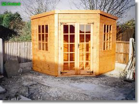 7x7 summerhouses silverwood corner shed total cost includes delivery and erection